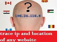 TRACE IP-ADDRESS AND LOCATION OF WEBSITE