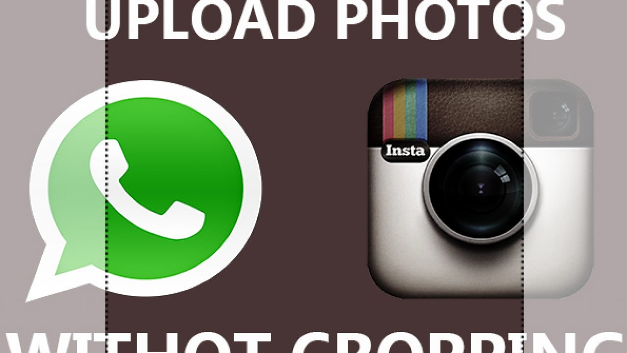 Upload non square picture on WhatsApp & Instagram | TechWiser