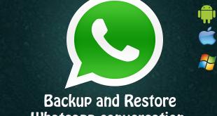 backup and restore whatsapp conversations