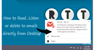 How to Read, Listen or delete to emails from Desktop