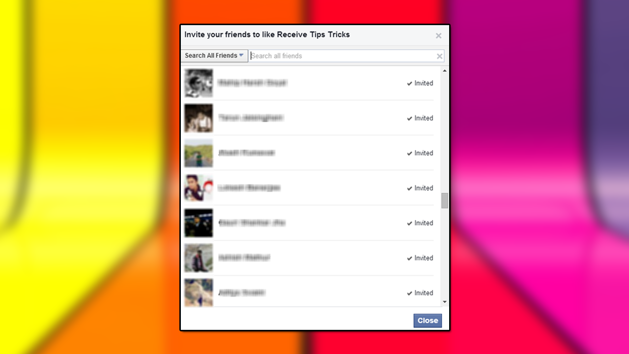 How To Invite All Friends On Facebook Page In Chrome Techwiser