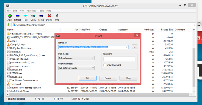 Extract the download package using 7zip