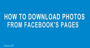 download images FROM FACEBOOK'S PAGES
