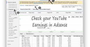 Check your YouTube Earnings in Adsense