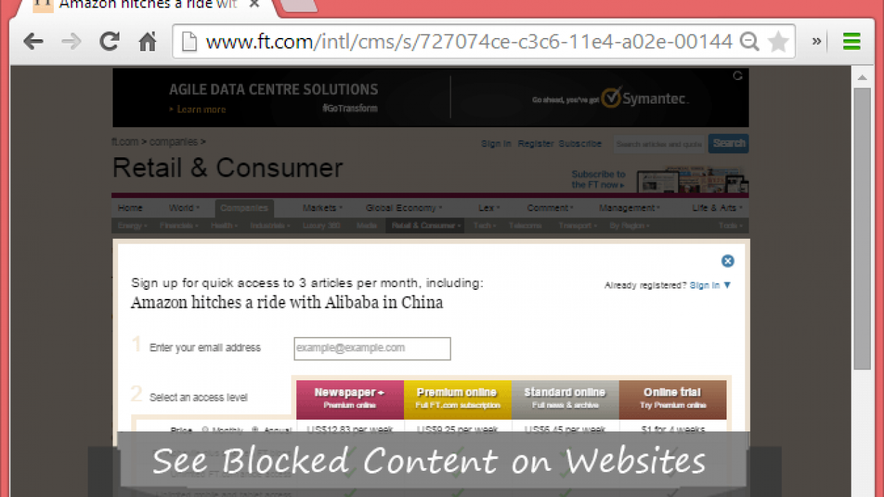How to see Blocked Content on Websites- 3 Solution