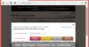 see Blocked Content on Websites