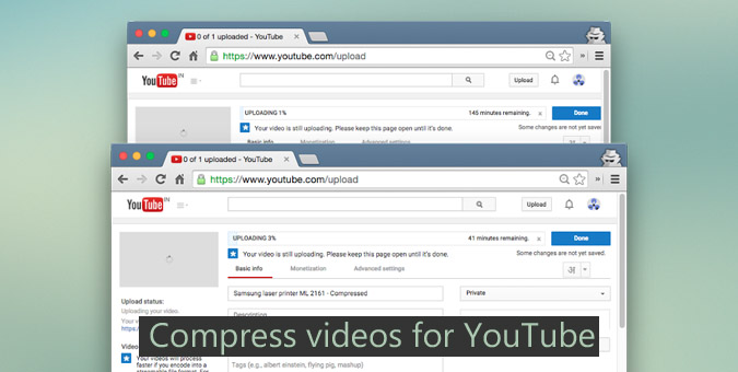 compress videos for YouTube-- handbrake