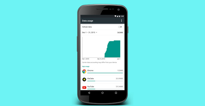 how to clear data usage stats in android