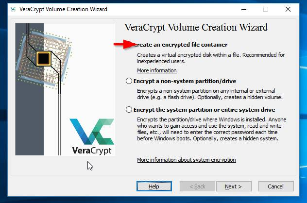 veracrypt1 encryption and drive creation process