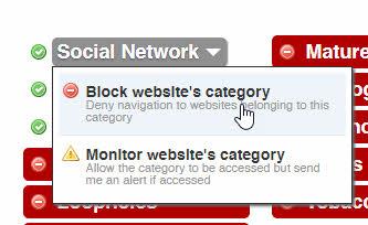Webサイトのカテゴリをブロックする