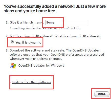 OpenDNSを構成する