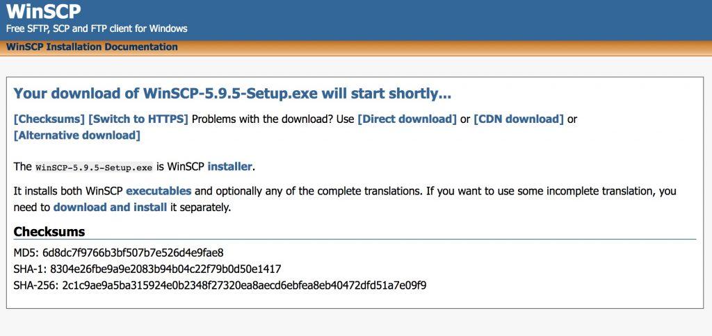 download of WinSCP