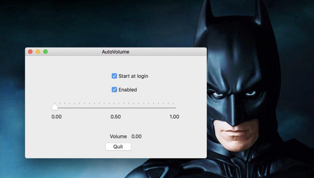 AutoVolume Automatically Mute your Mac