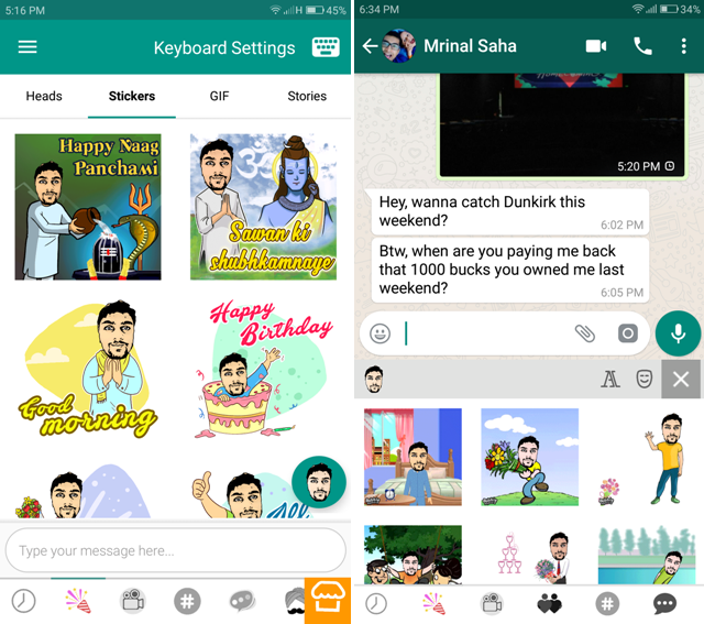 Android Apps For WhatsApp- keyboard