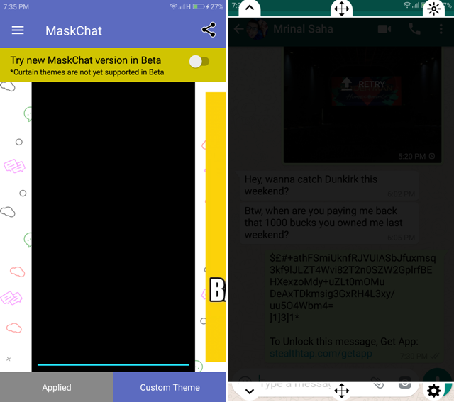 Android Apps For WhatsApp- maskchat