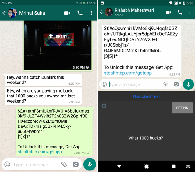 Android Apps For WhatsApp- stealthtap