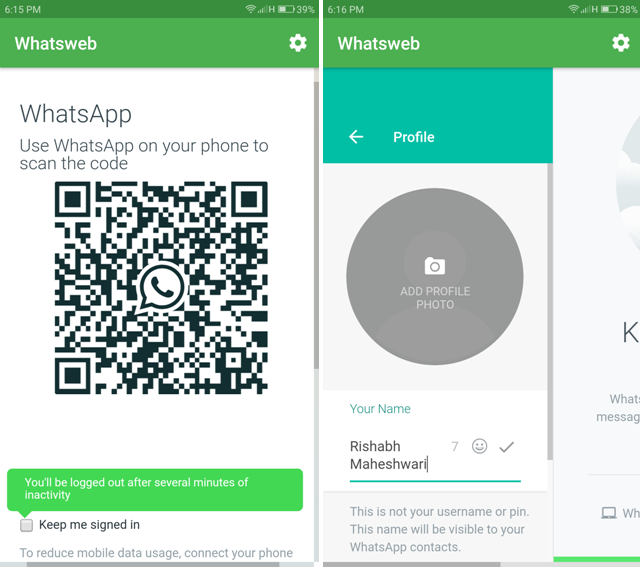 Android Apps For WhatsApp- web