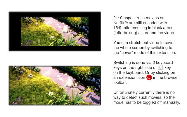 Ultrawide Display Aspect Ratio for Netflix