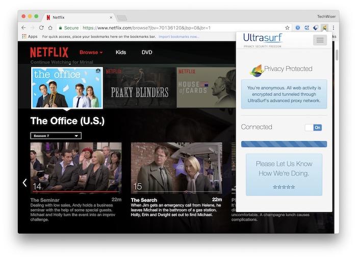 Ultrasurf for Netflix