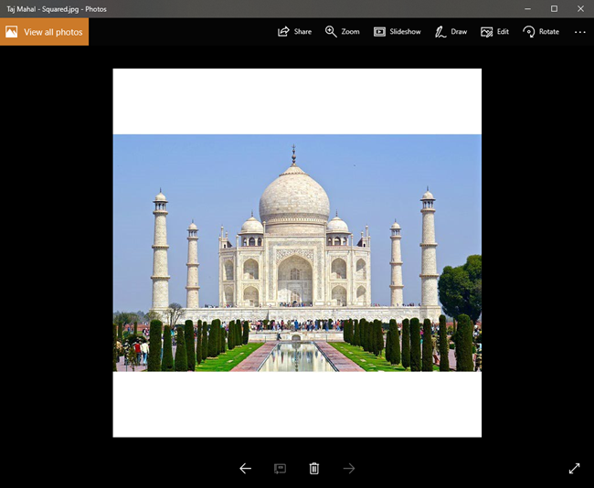 Make Photo Square Without Cropping Online Tool Techwiser