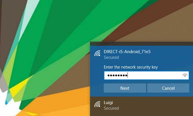 Share WiFi from Android to Windows