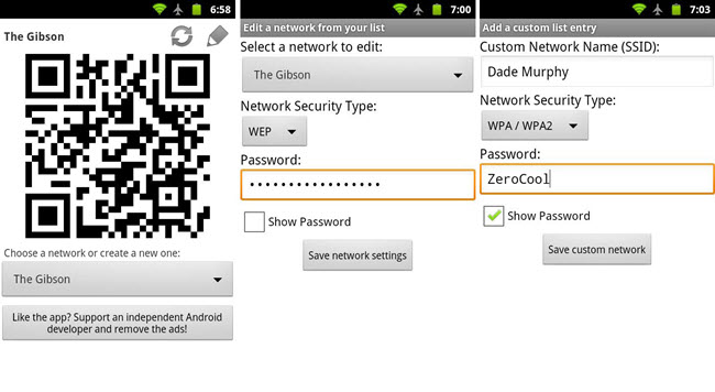 4 QR Code Apps To Share WiFi Password From One Phone to