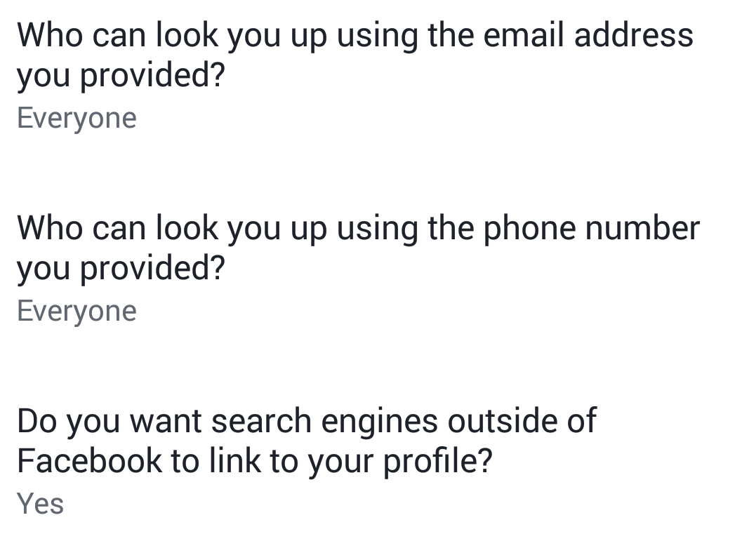 facebook settings how people find you
