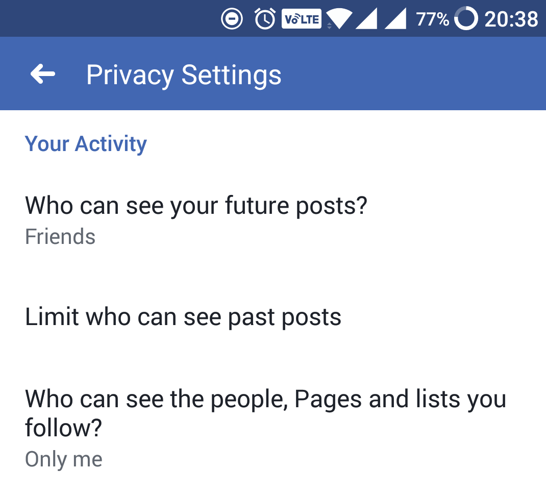 facebook privacy settings future posts