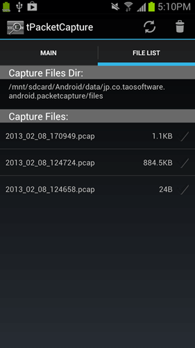 tPacketCapture Android app screenshot