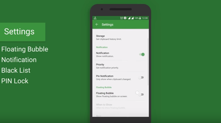 clip stack clipboard for android