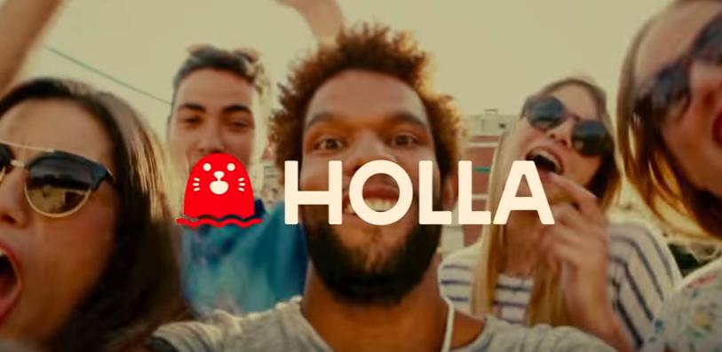 holla chat app