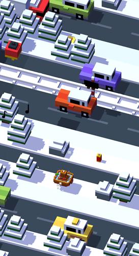 crossy roads snow world