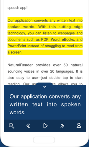 android text to speech app - NaturalReader