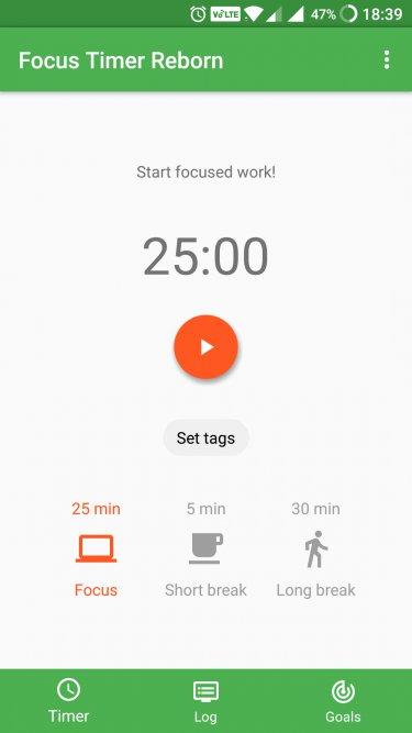 focus timer reborn