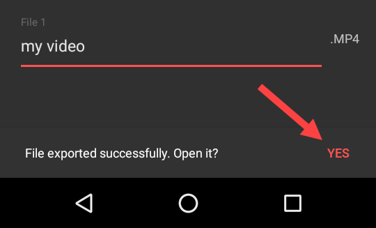 remove audio from video - android video exported