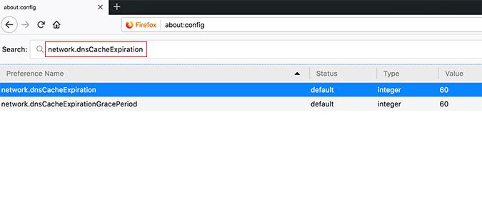 Firefox DNS