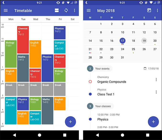 School Planner Android