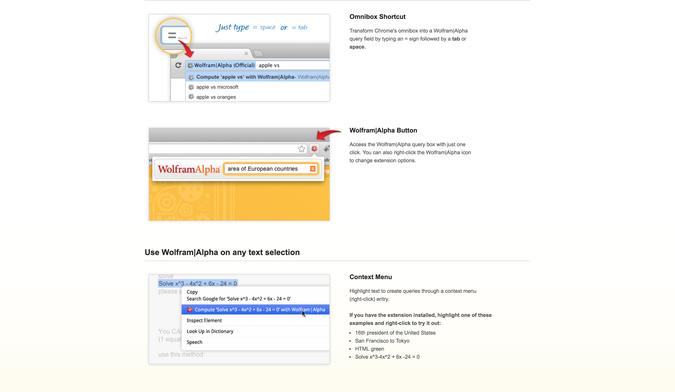 Wolfram Alpha Chrome Extension