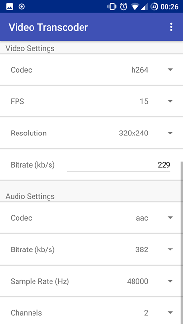 fdroid video editor interface