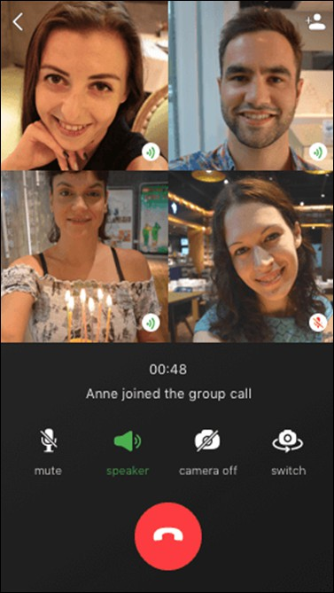 justalk group video call