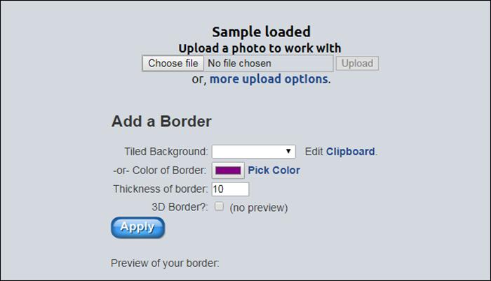 lunapic border tool