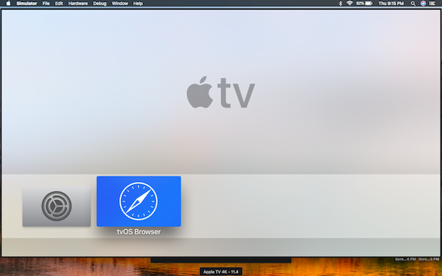 Apple tv and browser