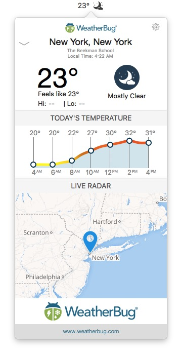 7 Best Weather Apps for Mac | TechWiser