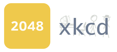 app icons of 2048 and xkcd