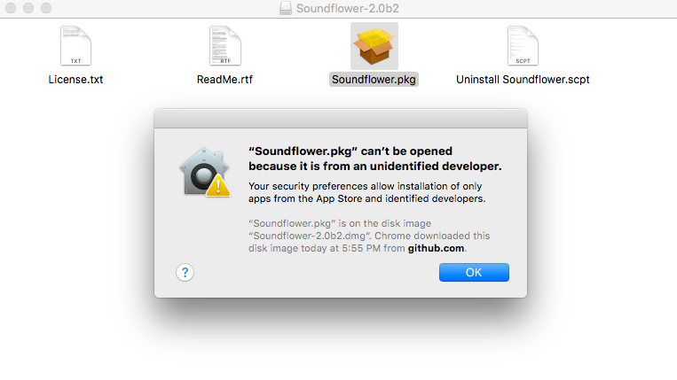 Soundflower Installation Failed