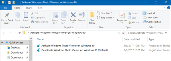 registry files to add windows photo viewer