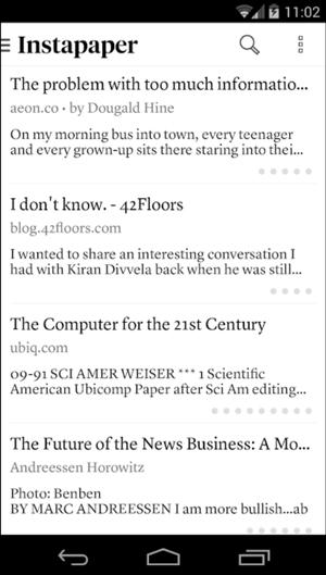 Pocket App Alternatives- instapaper