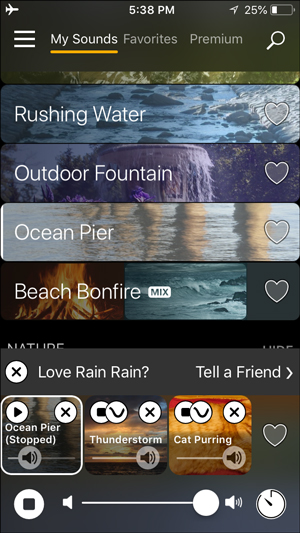 white noise apps for iphone- rain rain