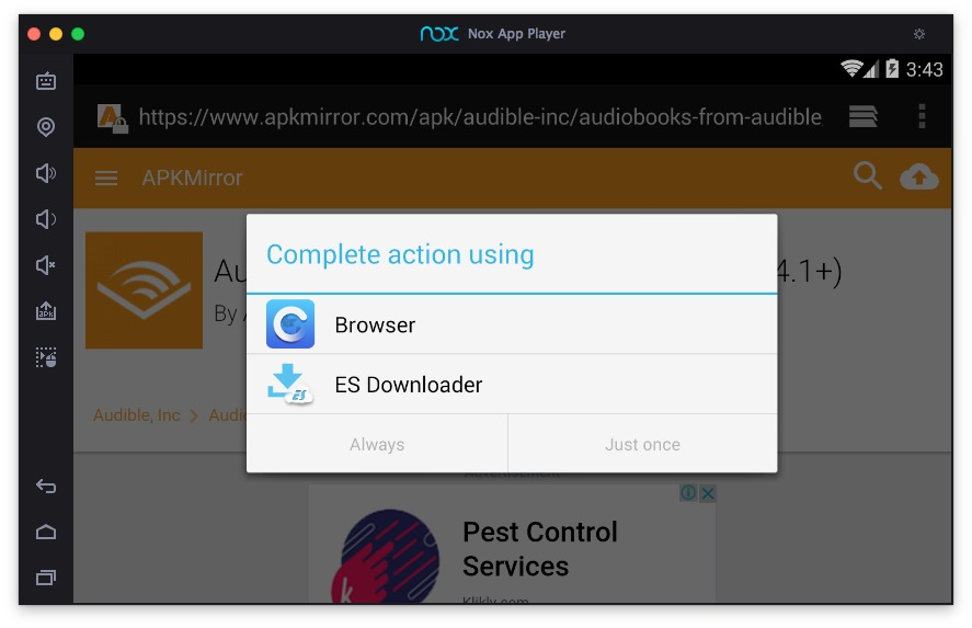 Audible smartphone app on your Mac