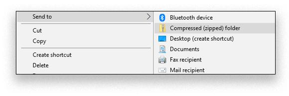 zip convert tool windows